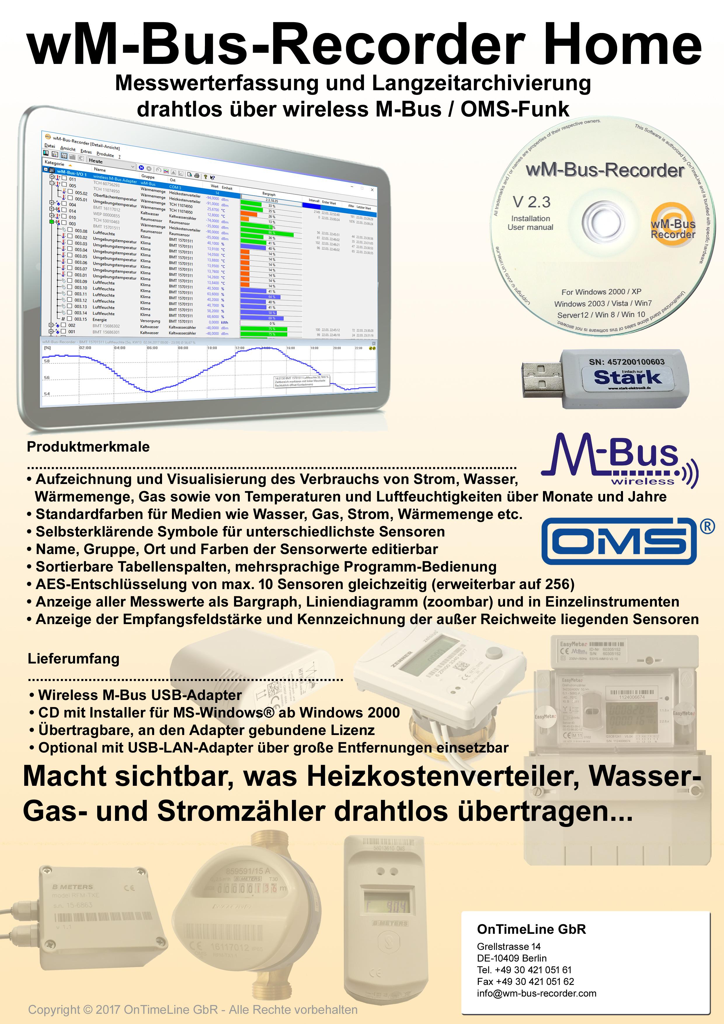 wM-Bus-Recorder Home